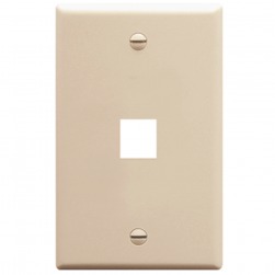 ICC IC107F01AL 1-Gang Flat Faceplate, Almond