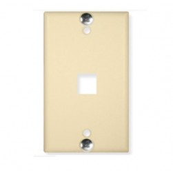 ICC IC107FFWIV 1-Port Flush Telephone Wall Plate Ivory