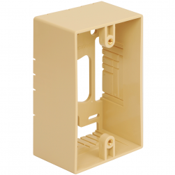 ICC IC107MRSIV Single Gang Mounting Box - Ivory