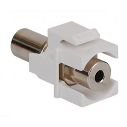 ICC IC107SACWH Stereo Audio Coupler, 3.5MM, White