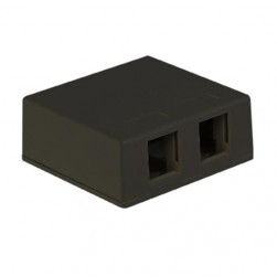 ICC IC107SB2BK 2-Port Surface Mount Box - Black