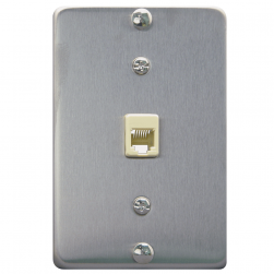ICC IC630DA6SS Stainless Steel 6P6C IDC Telephone Wall Plate