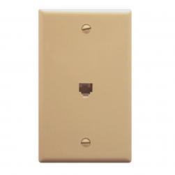 ICC IC630E60IV 6P6C Voice Wall Plate Ivory