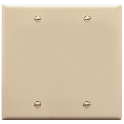 ICC IC630EBDAL 2-Gang Blank Face Plate, Almond
