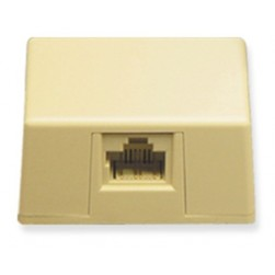 ICC IC635DS4IV 1-Port 8P4C Keyed Surface Mount Jack - Ivory