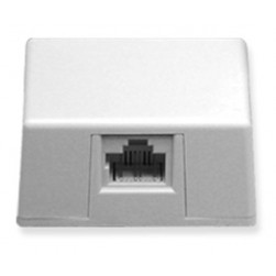 ICC IC635DS8WH 1-Port 8P8C Keyed Surface Mount Jack - White