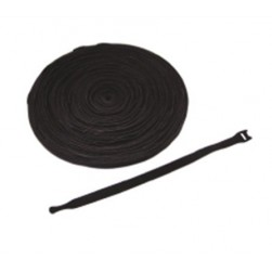 "ICC ICACSVB8BK 8"" VELCRO Brand Cable Tie Roll Color - Black"