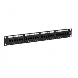 ICC ICMPP24CP6 24-Port Feed-thru Cat 6 Patch Panel, 1 RMS