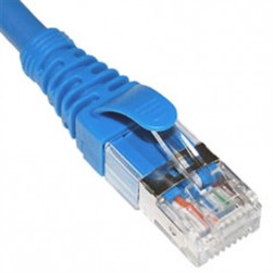 ICC ICPCSG10BL Cat 6A FTP Patch Cord, Blue, 10 Ft.