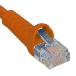 ICC ICPCSJ10OR Molded Boot Patch Cord, Orange, 10 Ft.