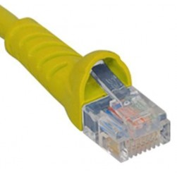 ICC ICPCSJ25YL Molded Boot Patch Cord, Yellow, 25 Ft.