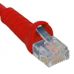 ICC ICPCSK03RD Cat 6 Patch Cord, Red, 3 Ft.