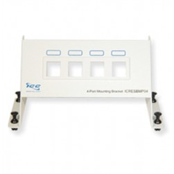 ICC ICRESBMP04 4-Port Blank Resi Mounting Panel