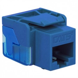 ICC IC1078E5BL EZ CAT 5e Keystone Jack, Blue