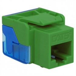 ICC IC1078E5GN CAT 5e EZ Keystone Jack, Green