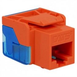 ICC IC1078E5OR CAT 5e EZ Keystone Jack, Orange