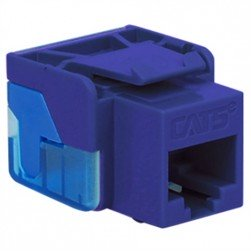 ICC IC1078E5PR CAT 5e EZ Keystone Jack, Purple
