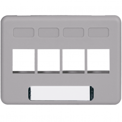 ICC IC107FN4GY 4-Port NEMA Furniture Faceplate Gray