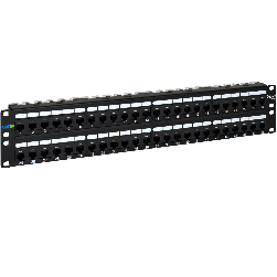 ICC ICMPP0486B 48-Port CAT 6A 2 Rack Mount Space Patch Panel