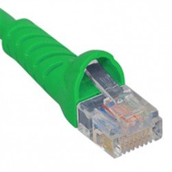 ICC ICPCSJ01GN Molded Boot Patch Cord, Green, 1 Ft.