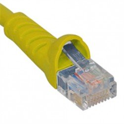 ICC ICPCSJ01YL Molded Boot Patch Cord, Yellow, 1 Ft.
