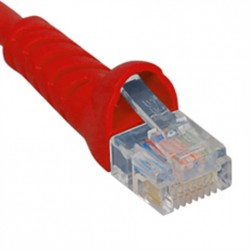 ICC ICPCSJ03RD Molded Boot Patch Cord, Red, 3 Ft.