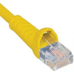 ICC ICPCSK01YL Cat 6 Patch Cord, Yellow, 1 Ft.