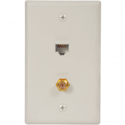 ICC ICRDS0F5WH Faceplate IDC Data & F-Type White