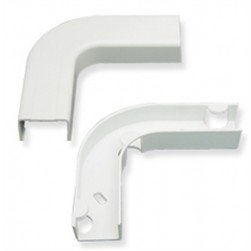 "ICC ICRW12EBWH 1 1/4"" Flat Elbow & Base - White 10Pk"