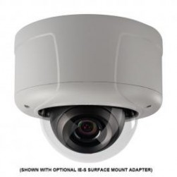 Pelco IES0DN12-1 Sarix 0.5MP Outdoor D/N Rugged IP Dome Camera, 2.8-12mm Lens, Clear Dome