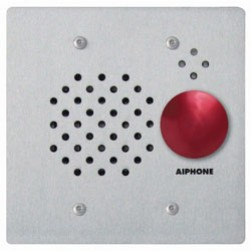 Aiphone IE-SSR Fl Mt 2-Gang Sub Station W/ Red Mushroom Button, Ss