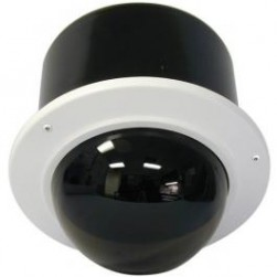 Videolarm IRM7TF 7.5in Vandal Resist Ind. Recessed Dome Hsg. w/ Recessed Ceiling Mnt, Tint