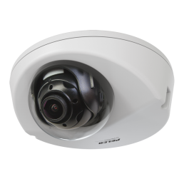 Pelco IWP121-1ES 1 Megapixel Sarix Pro Outdoor Wedge IP Dome Camera, 2.8mm Lens
