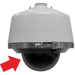 Pelco LD53PR-0 Pressurized Spectra Lower Dome with Smoked Bubble