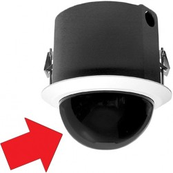 Pelco LD5F-0 In-ceiling Mount Smoke Dome for Spectra IV