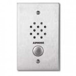 Aiphone LE-SS-1G Flush Mount 1-Gang Sub Station, Stainless Steel