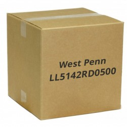 West Penn LL5142RD0500 1 Pair 14 AWG Solid Unshielded Plenum, 500', Red