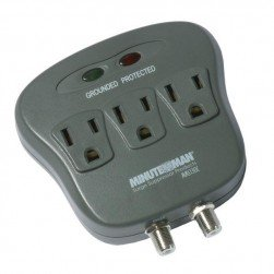 Minuteman MMS130C 3-outlet Surge Suppressor with Coax Protection