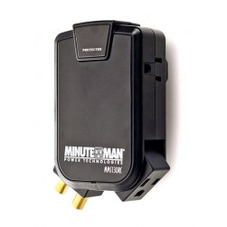 Minuteman MMS130RC 3-Outlet,1 Rotating Slimline Wall Tap, Coax