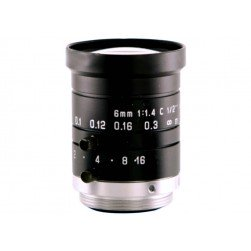 Arecont Vision MPL6-0 6mm, 1/2.5 in., f1.4, Monofocal Lens