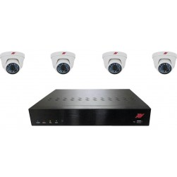 ATV N4P1T4 4-Channel NVR Camera System with (4) HD Turret Domes