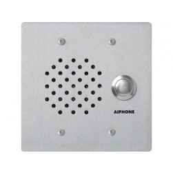 Aiphone NE-SS-A Flush Mount Vandal Resistant 2-Gang Sub Station, Stainless Steel