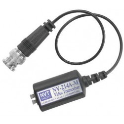 NVT NV-214A-M Single Channel Passive Video Transceiver w/9-inch Mini-Coax Lead