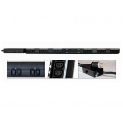 Minuteman OEPD2430V48DCL 24-Outlet, 30-Amp Receptacles, 0U Vertical Mounting PDU