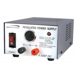 Speco PSR4C 4 Amp Regulated 12VDC Power Supply with Cigarette Lighter Adapter