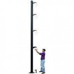 Videolarm PV16N 16-foot Free Standing Aluminum Pole with Universal Mounting Plate