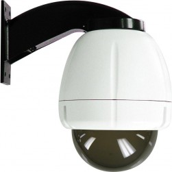 Moog RHW75C2NAX IP Ready Vandal-Resistant Outdoor Dome Housing with Wall Mount, Clear Dome