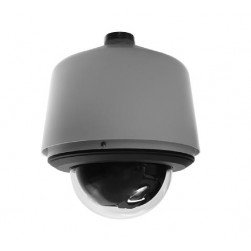 Pelco S6220-ESGL0 2 Megapixel Spectra Enhanced Low Light HD Pendant Environmental Network Stainless Steel PTZ Dome Camera, 20X, Smoked, Gray