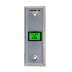 "Seco-Larm SD-7103GC-PEQ Illuminated Green ""PUSH-TO-EXIT"" Button"