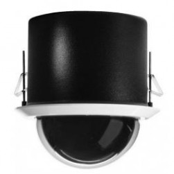 Pelco SD4E23-F0 Spectra(tm) IV IP SL with H.264 23X flush/in-ceiling mount, black back box, white trim ring, and smoked bubble. NTSC.